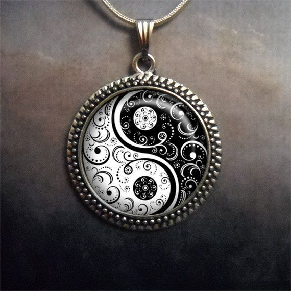 Black and white yin yang necklace yin yang jewelry zen jewelery black and white yin yang necklace yin yang jewelry zen jewelery yoga pendant yoga jewelry yin yang pendant spiritual jewelry aloadofball Choice Image