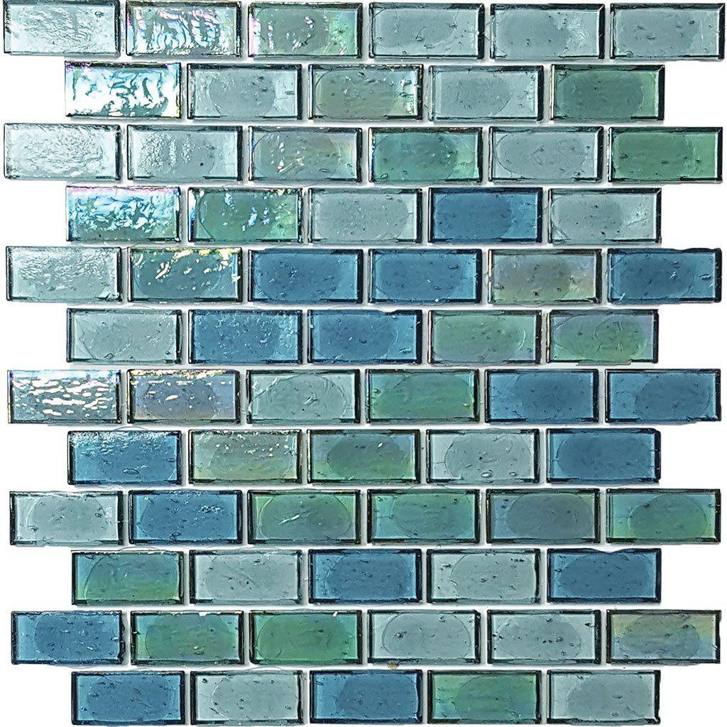 Pier 1 Glass Mosaic Tiles Recycled Glass Green Mosaic Tiles