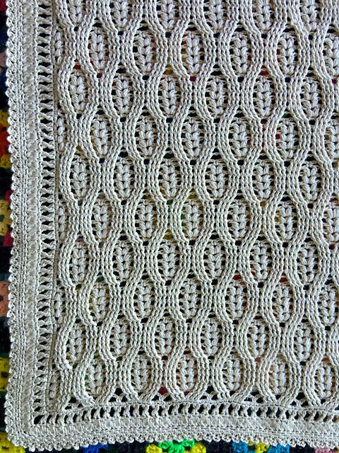 Free Pattern] This Wheat Stitch Baby Blanket Pattern Will Keep You ...