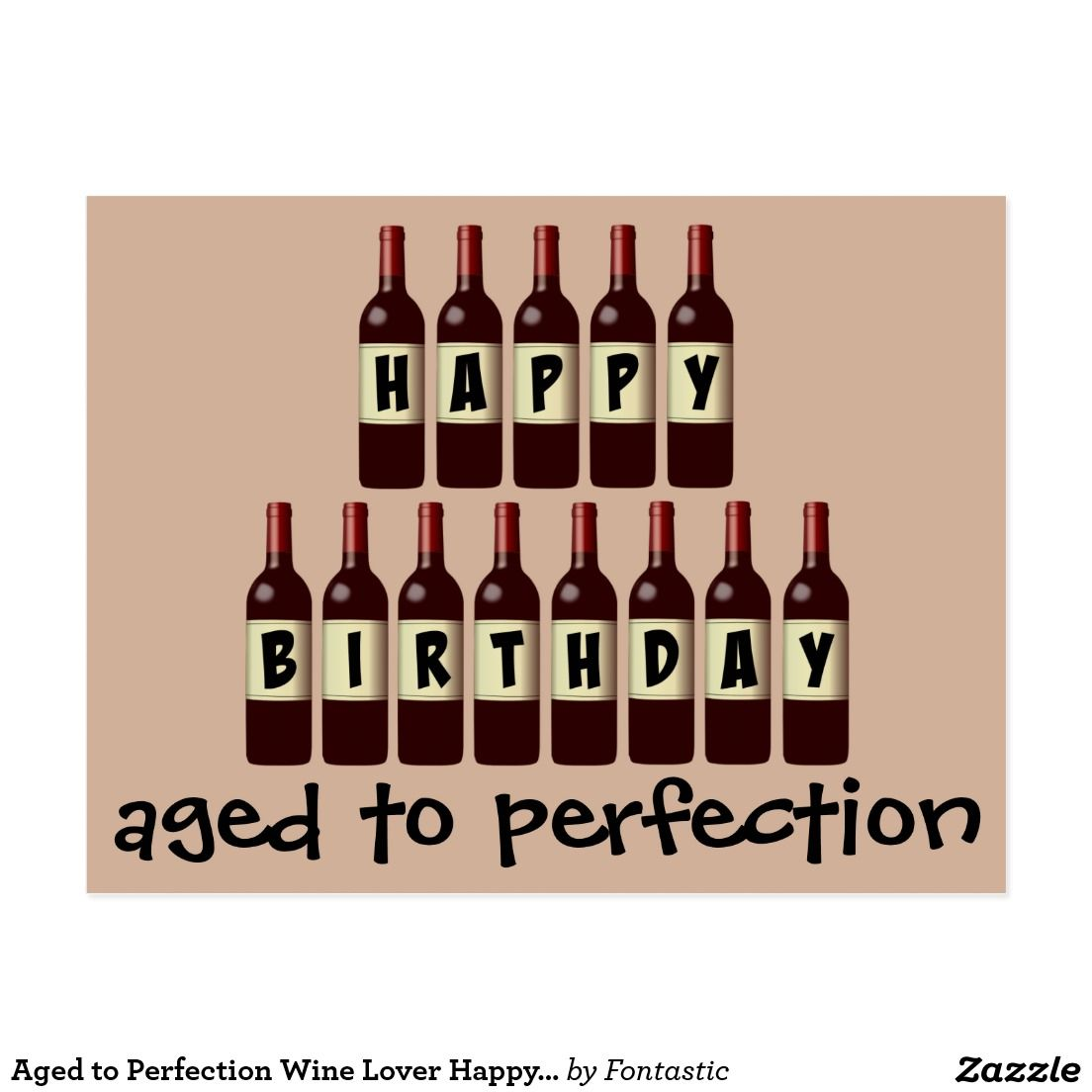 Aged To Perfection Wine Lover Happy Birthday
