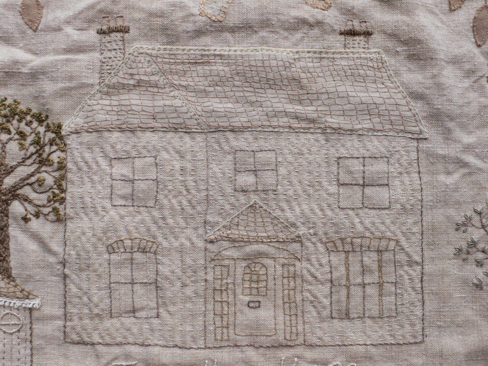 gentlework: Trevethoe House - embroidery details