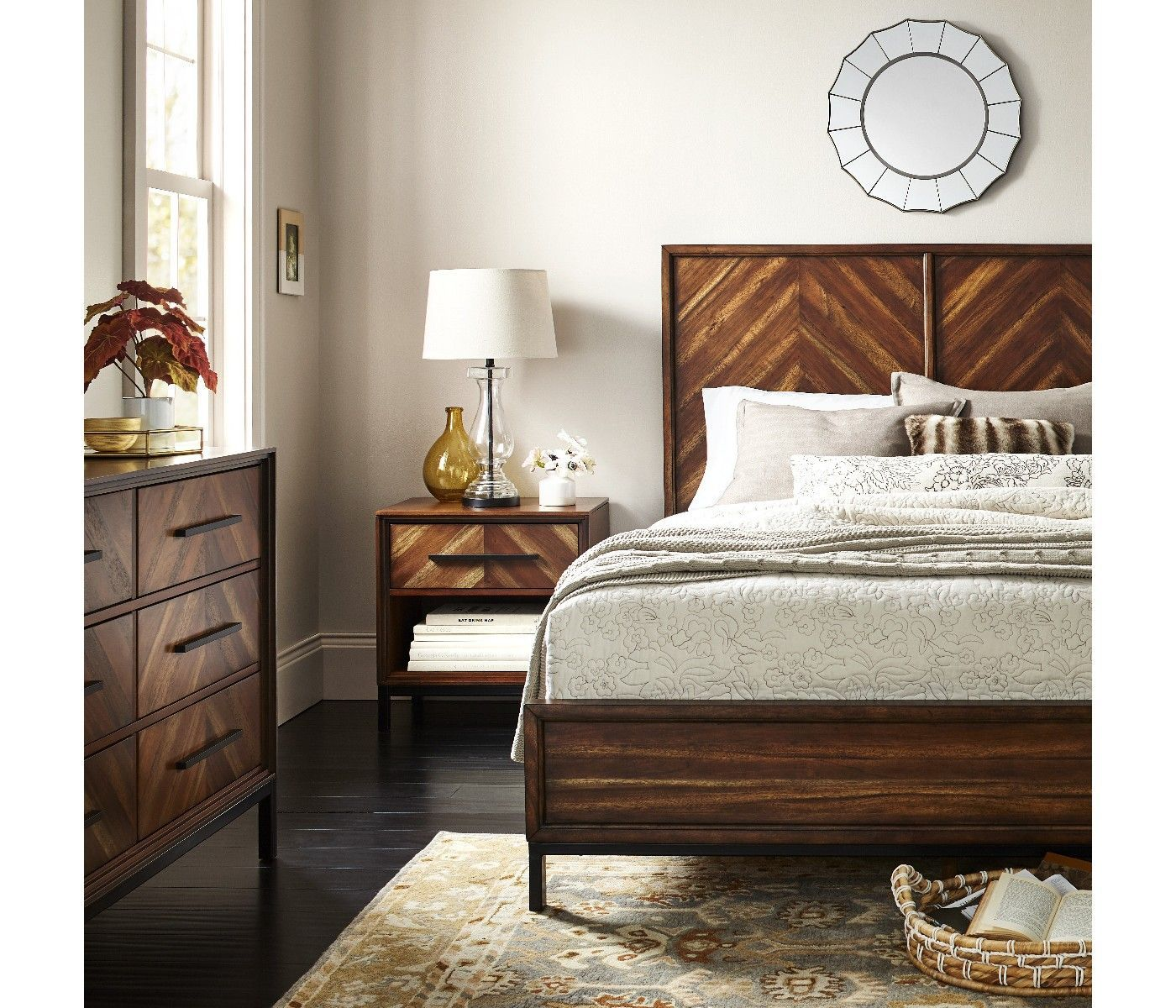Ceiling Design Look Up More Often 28 The Mirror Above Bed Gives This Room So Much Character Love Natural Vibe