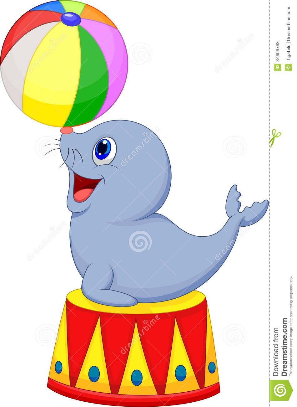 circus cartoon seal playing a ball play ball pinterest rh pinterest co uk circus clipart black and white circus clipart coloring