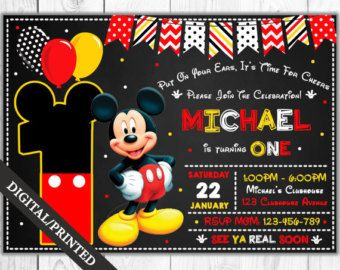mickey mouse party mickey mouse club house birthday by dellaevents, Party invitations