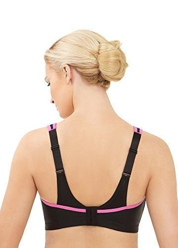 5806484ea412a 70% Polyester 25% Nylon 5% Elastane - Imported - Hook and Eye closure -  Machine Wash - Full-support sport bra in moisture-wicking fabric featuring  mesh ...