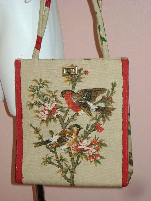 70s purse vintage 1970s BIRDS