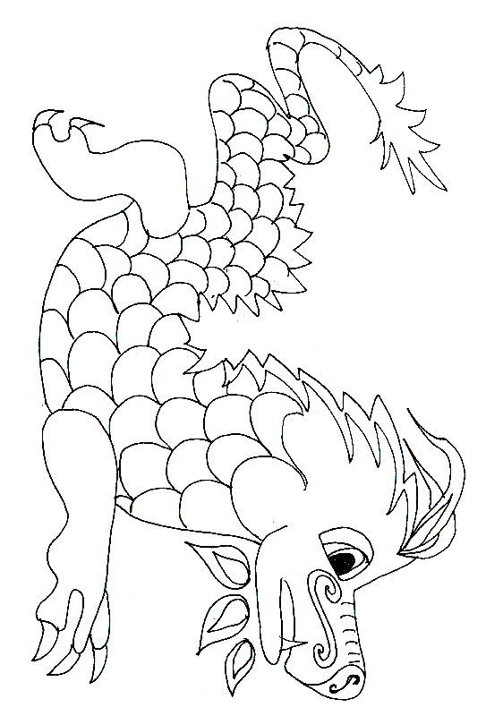 Coloriage D Un Dragon Chinois Dragon Chinois Coloriage Dragon Coloriage Chinois