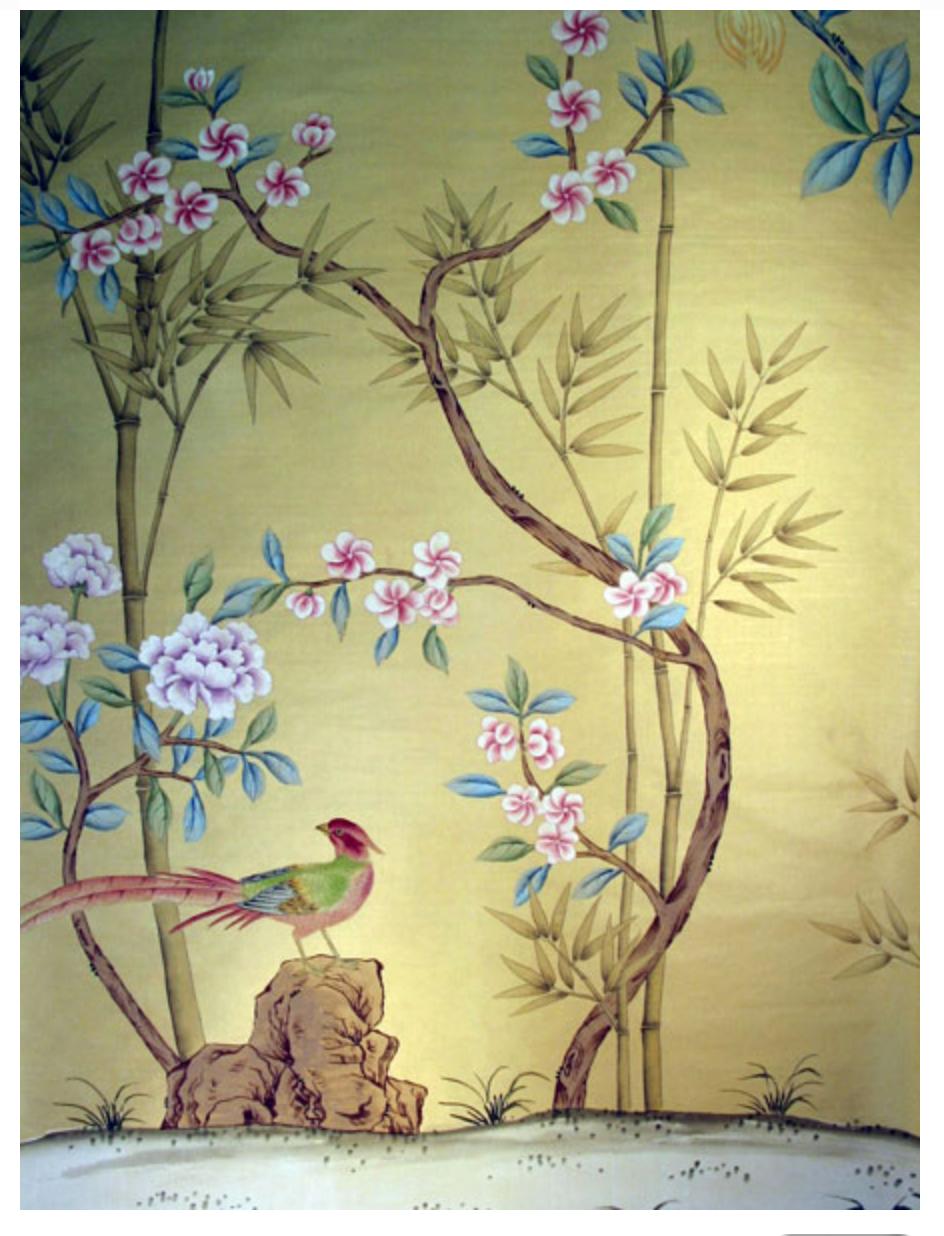 Chinoiserie | Chinese silk wall-coverings /chinoiserie handmade ...
