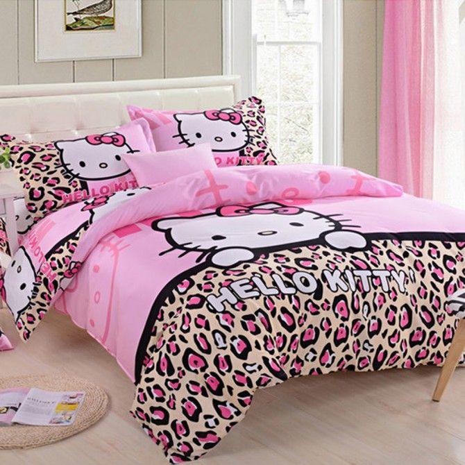 Hello Kitty Leopard Duvet Cover Set Hello Kitty Rooms Hello