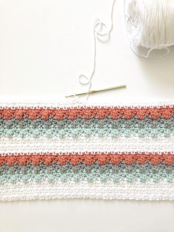 Crochet Mesh and Bobble Blanket | Daisy Farm Crafts | Crochett ...