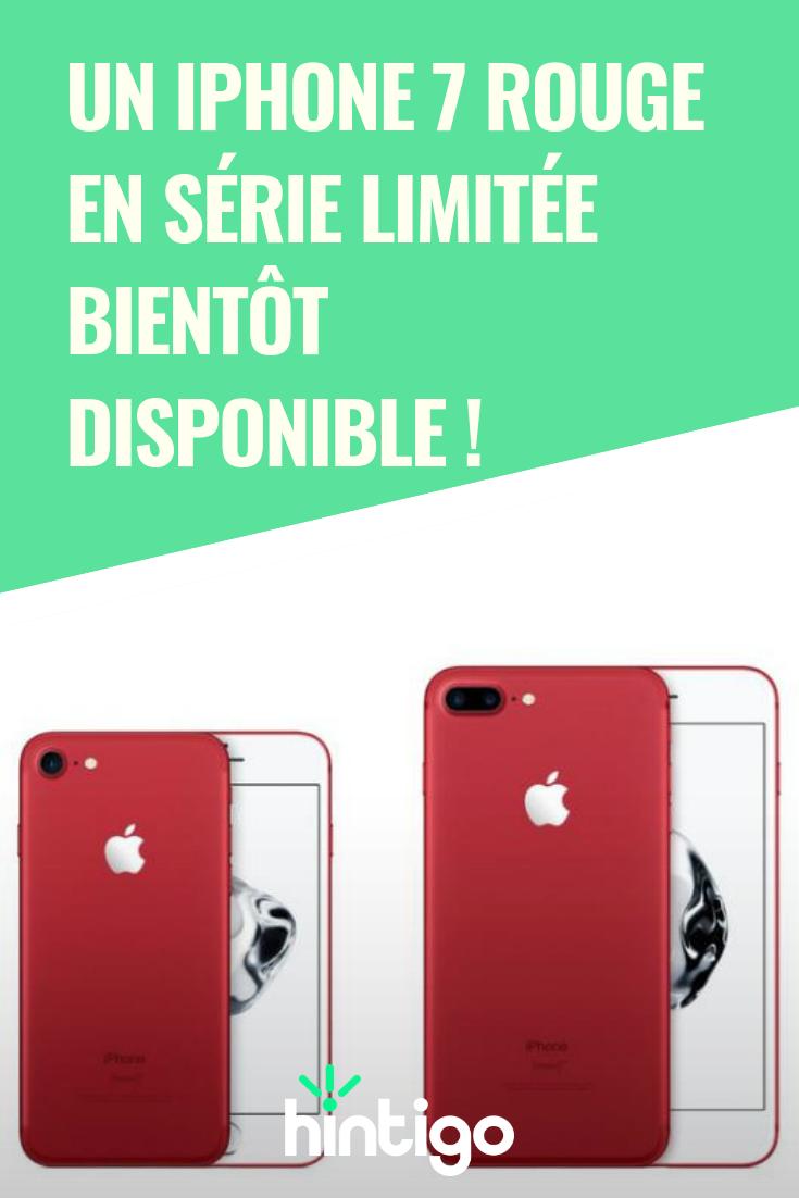 Un iPhone 7 rouge en série limitée bientôt disponible