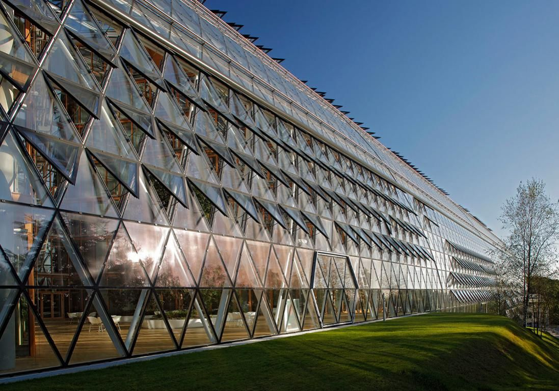 European Investment Bank Luxembourg Green Architecture Architecture Awards Eco Architecture