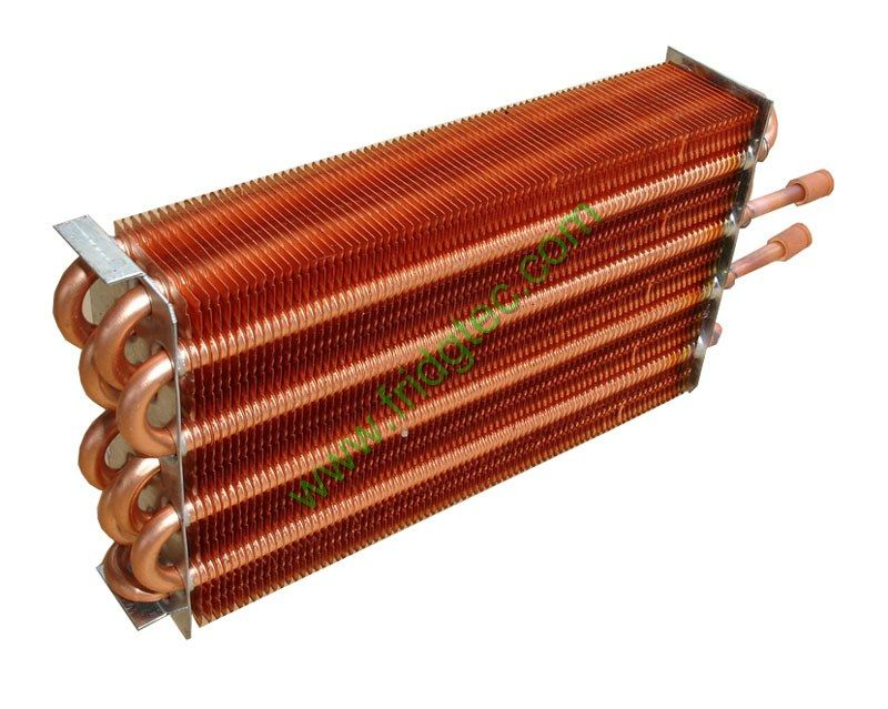 Copper tube copper fin condenser | Home and commercial ...
