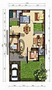 Denah Rumah Minimalis Type 36 Denah Rumah Minimalis Type 45 Denah