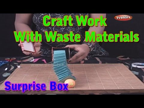 Pebbles Present Craft Work With Waste Materials Learn For Kids Material