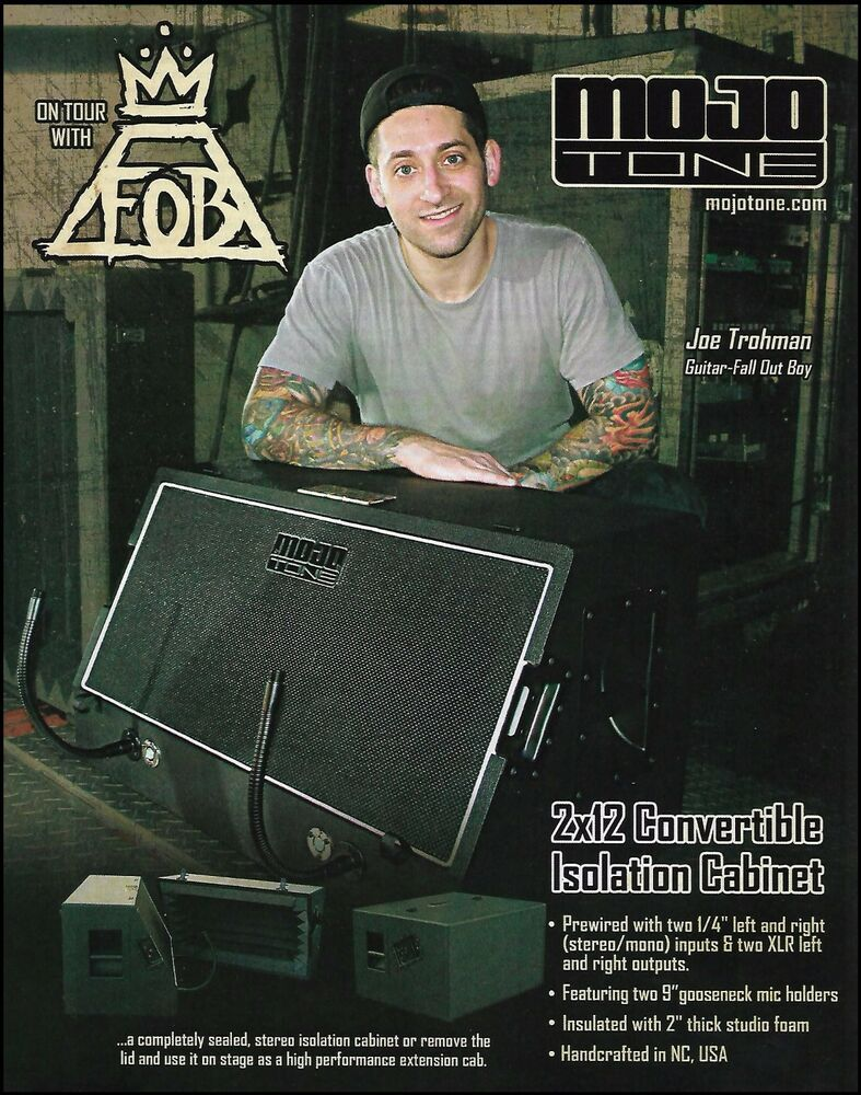 Joe Trohman (Fall Out Boy) Mojo Tone Guitar Amp Cabinet ad 8 x 11