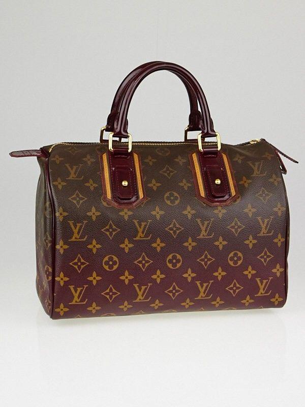 Used Louis Vuitton Purses >> Louis Vuitton Limited Edition Bordeaux Monogram Mirage