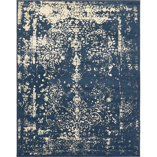 173 8 X10 Vikram Navy Blue Area Rug With Images Unique Loom Rugs Navy Blue Area Rug