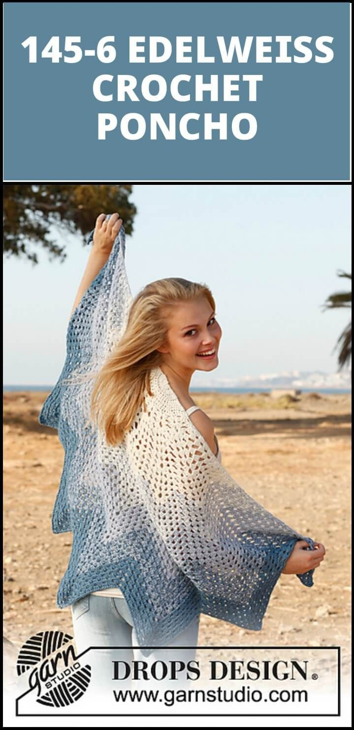 50 Free Crochet Poncho Patterns for All | Pinterest