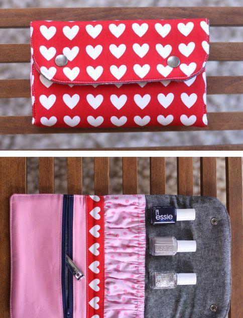 Snappy Mani Pouch Free Pattern || Robert Kaufman Fabric Company ...