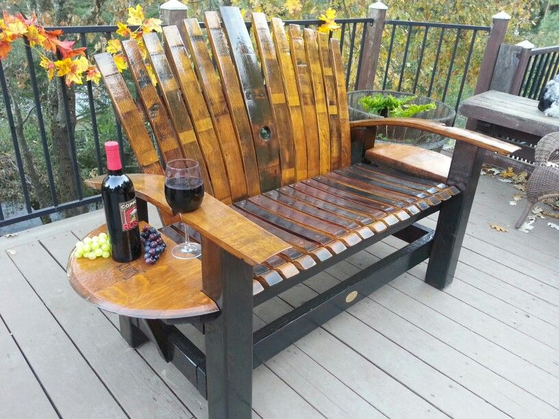 Rewined Designs Wine Stave Loveseat Things I Love In