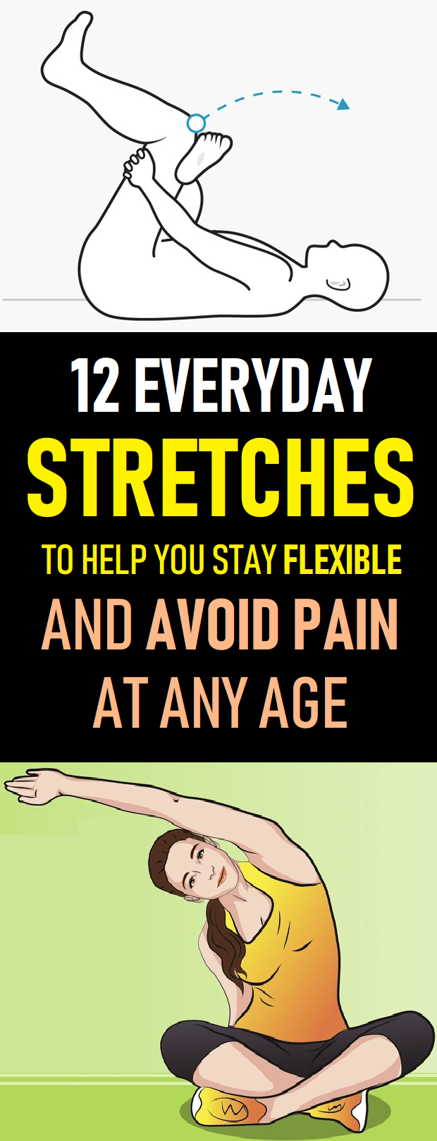 everyday stretches for back pain #health&fitness