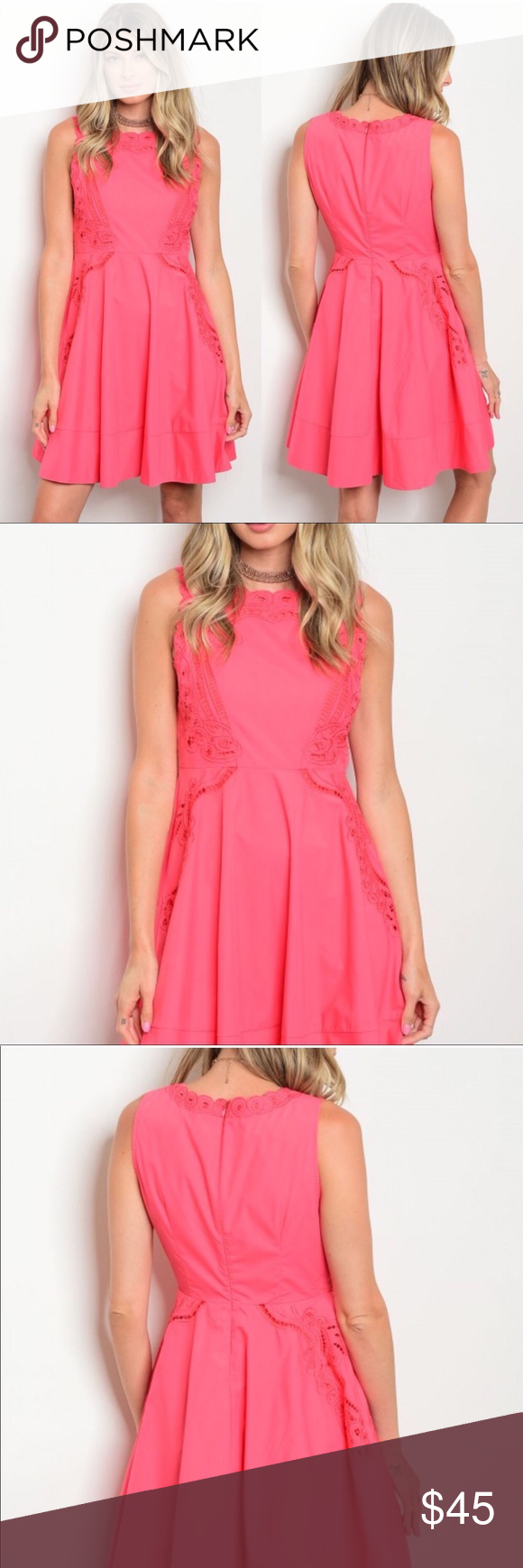 Beautiful Summer Coral Dresses Coral Colored Dresses Boutique Dresses Summer Coral Summer Dresses