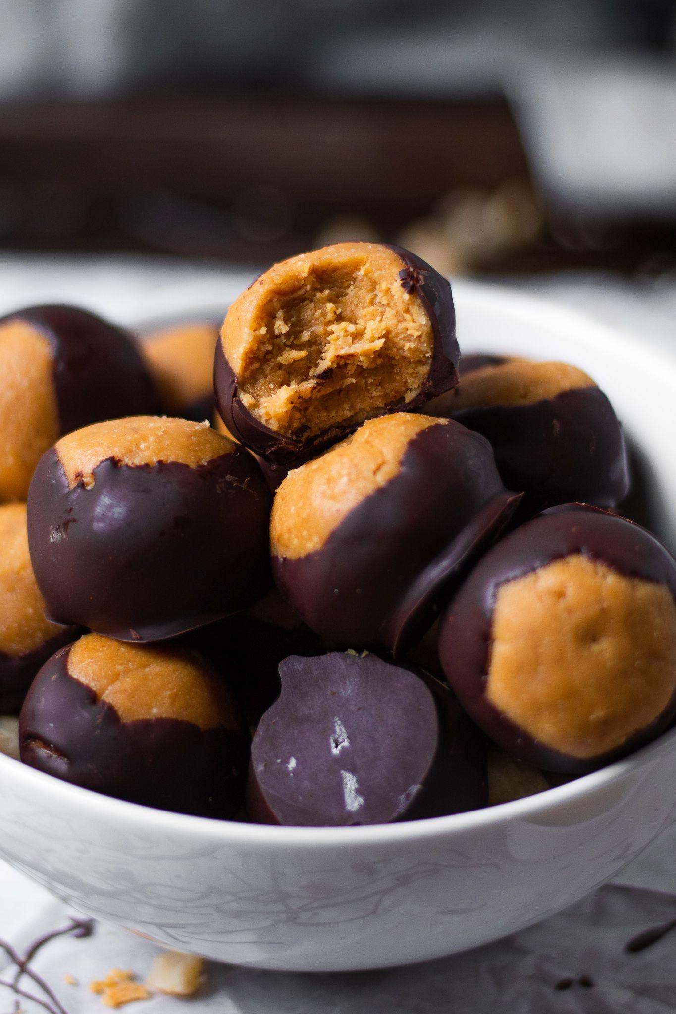 Healthy Peanut Butter Buckeyes Recipe (Vegan) The Banana