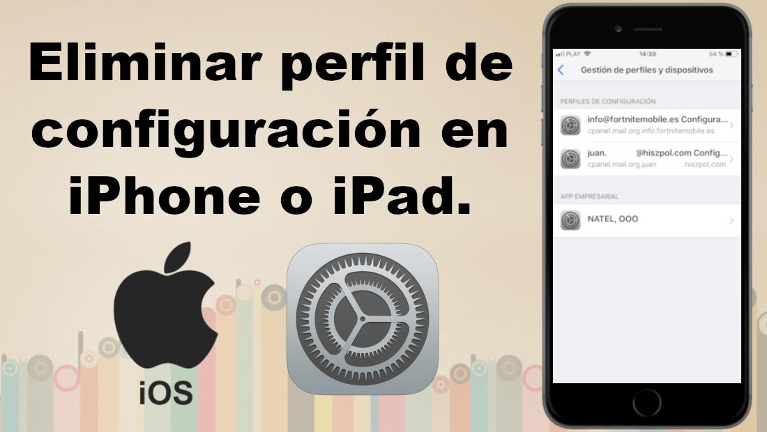 Cómo Eliminar Perfiles De Configuración Antiguos De Tu Iphone O Ipad Iphone Ipad Ios