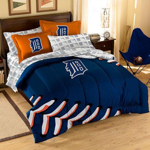 Detroit Tigers Yankee Bedroom Bed In A Bag Full Comforter Sets