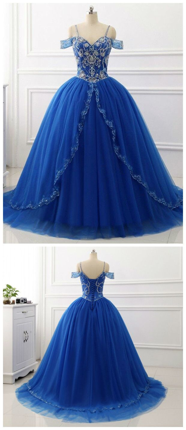 Aline princess sweetheart neck sleeveless chapel train prom dresses