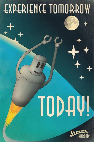 Robot Poster! 1950s style. | Robot | Retro futuriste ...