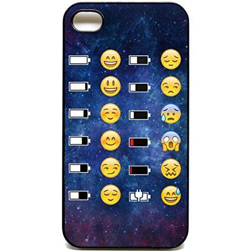 Coque pour iPhone 4/4s Motif Space Batterie Emoji Face Motif ...