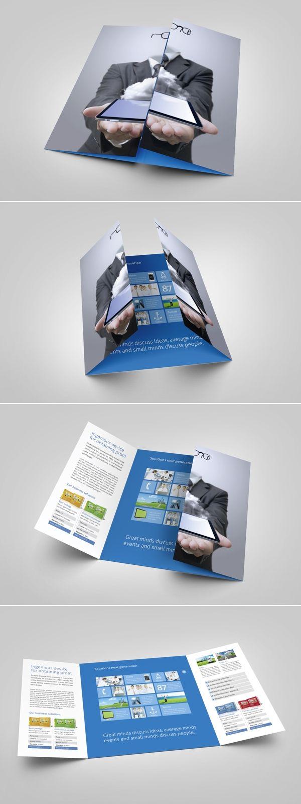 single fold leaflet