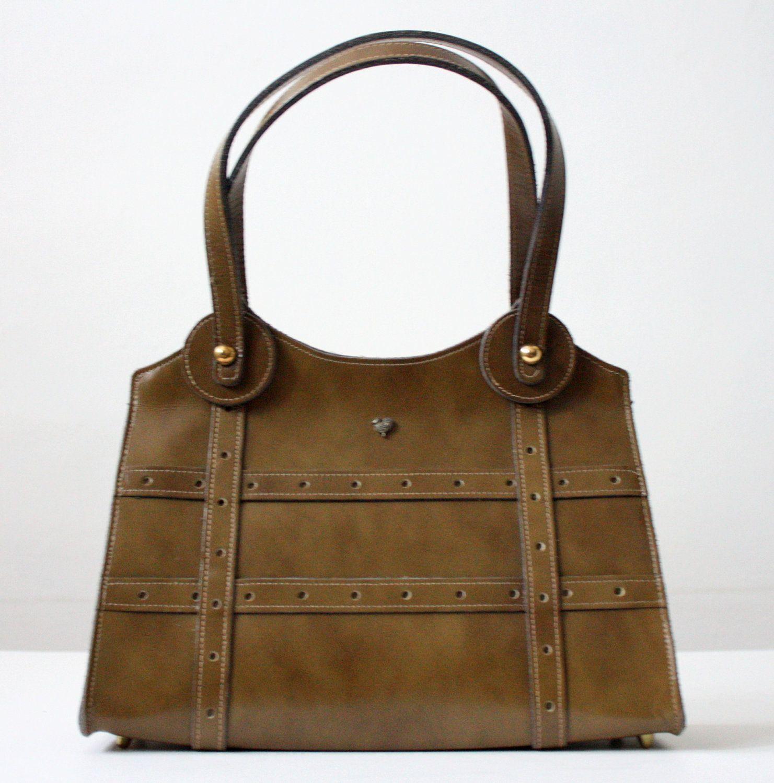 vintage olive handbag.