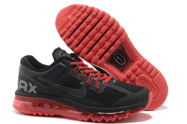 Cheap shoes Nike Air Max 2013 men black red HOT SALE! HOT PRICE!