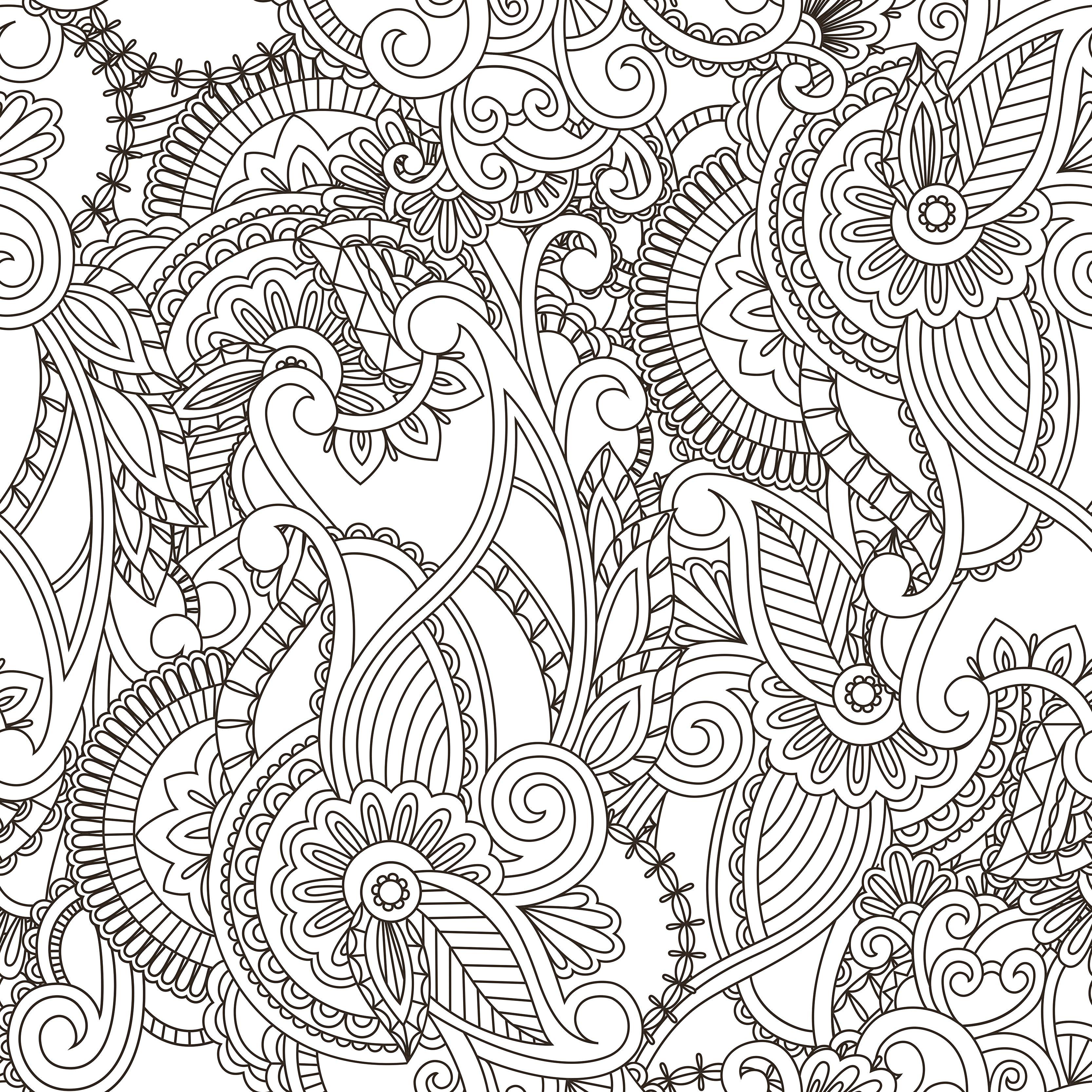 Раскраска антистресс абстракция популярных частей