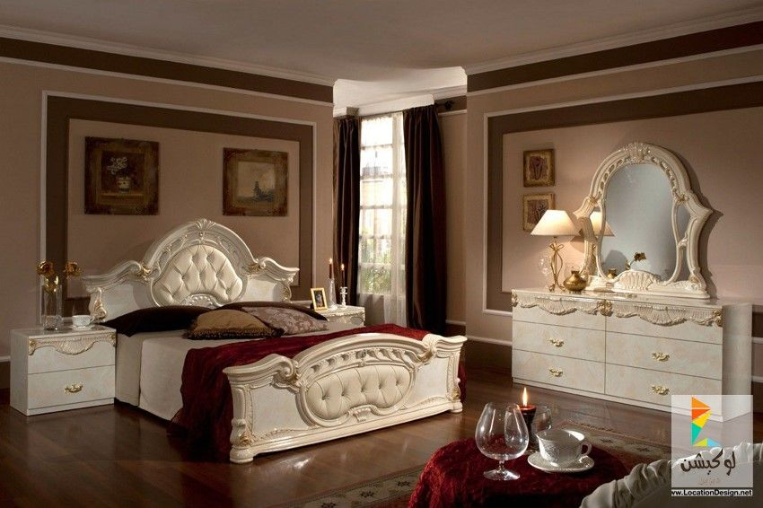 أفكار جميلة لديكورات غرف نوم كلاسيك Beige Bedroom Set Classic Bedroom Furniture Bedroom Sets