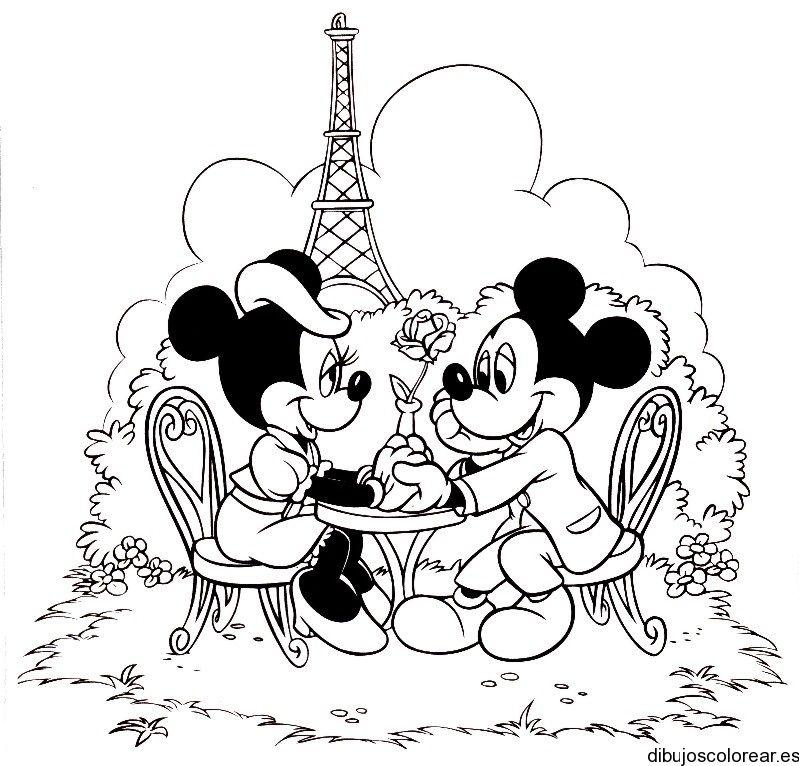 Dibujo De Minnie Mickey Mouse En Paris Dibujos Para Colorear Mickey Mouse Coloring Pages Disney Coloring Pages Minnie Mouse Coloring Pages