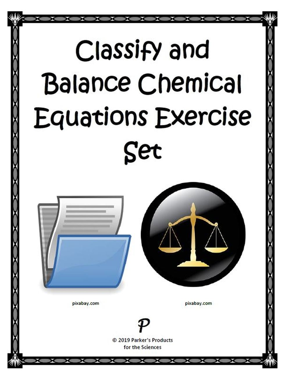 Classify And Balance Chemical Equations Exercise Set With Keys Chemistry Activities Chemical Equation Equations [ 1280 x 977 Pixel ]