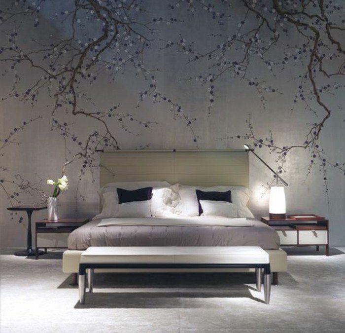 ▷ 1001+ modèles de papier peint 3d originaux et modernes Chinoiserie - modele chambre a coucher