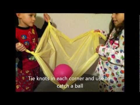 5 Gross Motor and Coordination Activities Using Plastic Tablecloths