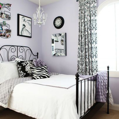 Black And White And Purple Bedroom a teen bedroom makeover | quirky bedroom, purple and bedrooms