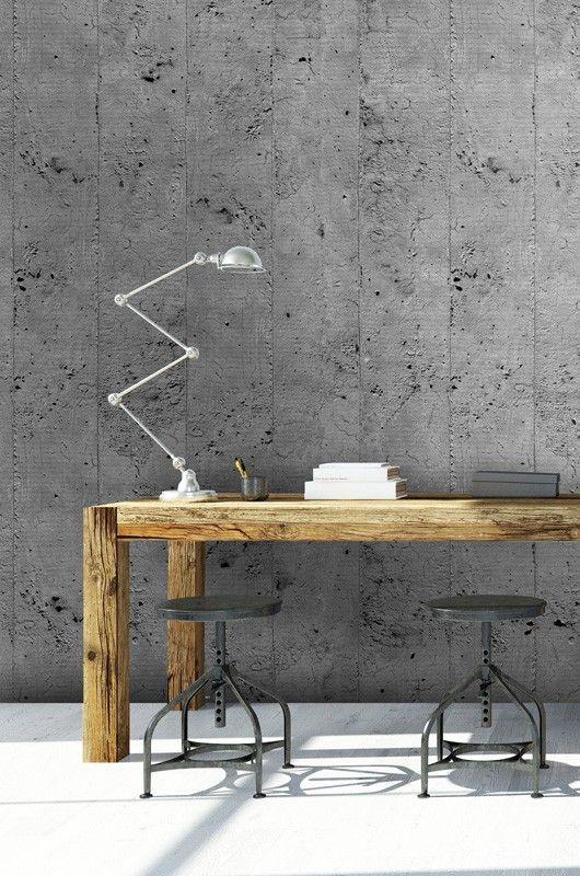 papier peint effet beton papier peint