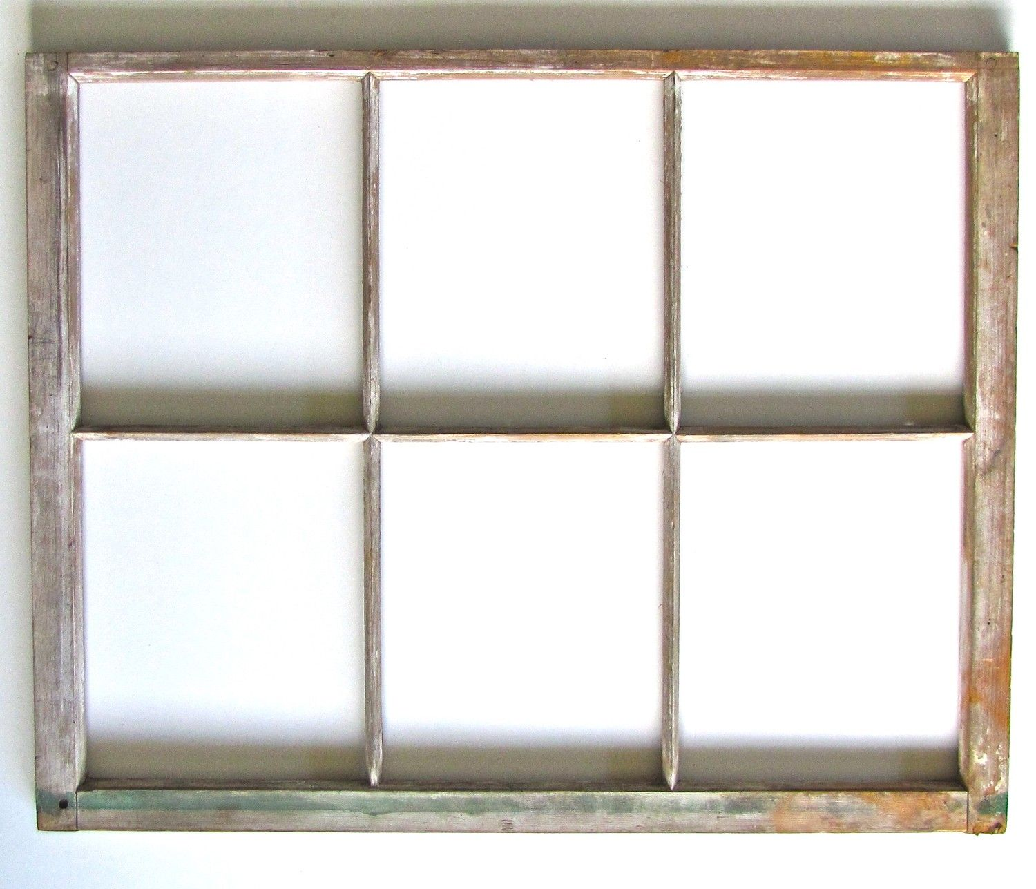 Vintage wood six pane window frame ready for mirror or for Window frame designs house design