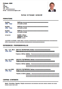 Cv Document Telechargercvword  Cv  Pinterest