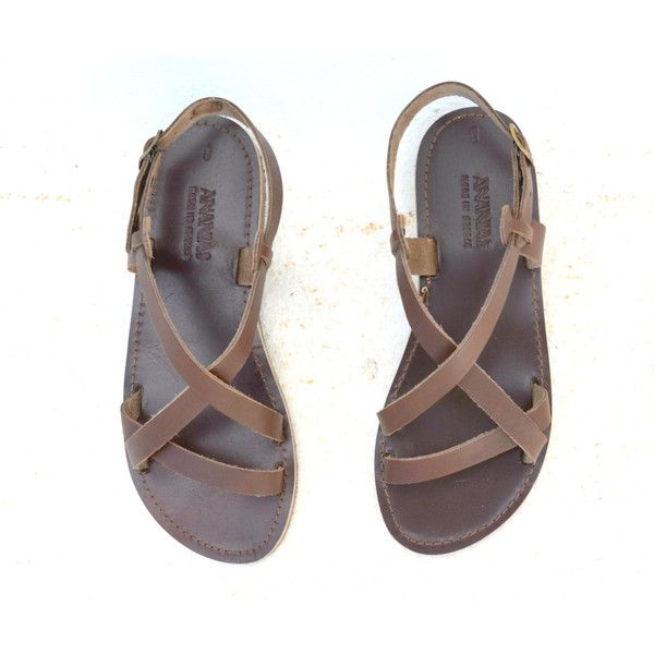 Handmade Roman Grecian Leather Sandals-New Style (779215 BYR) ❤ liked on Polyvore featuring shoes, sandals, black, women's shoes, black leather sandals, real leather shoes, grecian sandals, leather footwear and kohl shoes