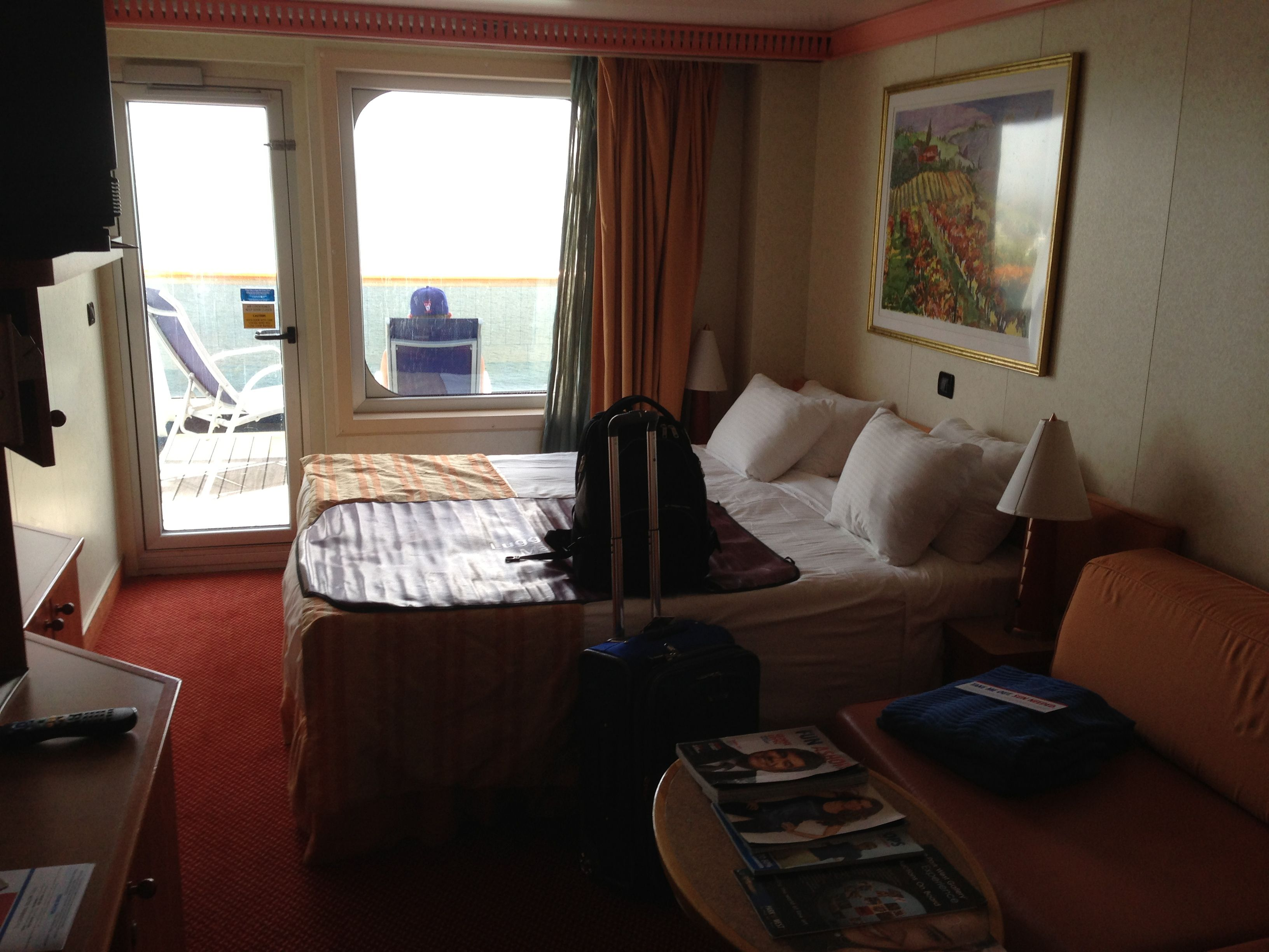 Balcony room on the carnival valor carnival cruise for Cruise balcony