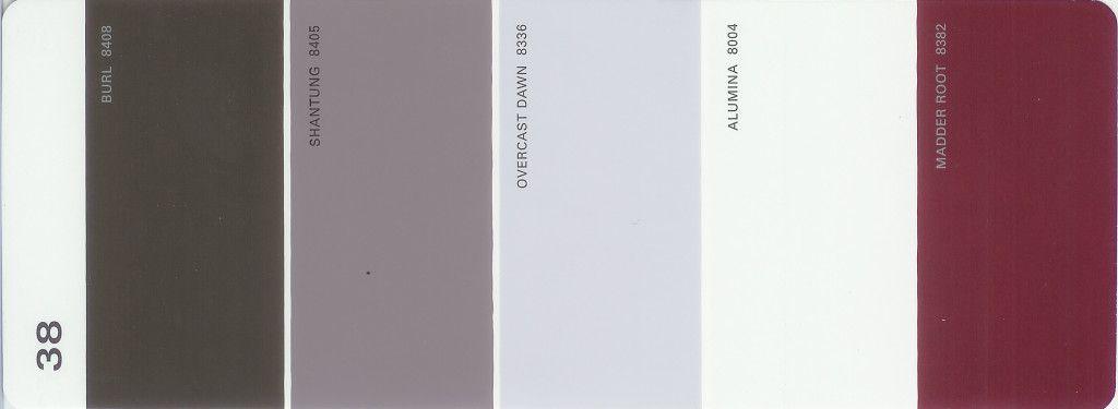 Martha Paint 5 Color Palette Card 38
