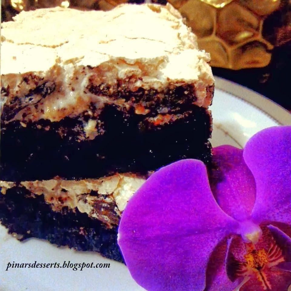 Pınar's Desserts: Çikolatalı ve Fındıklı  Mereng Brownie